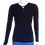 Thumbnail: Men's Black Slim Fit Rivets and Laces Long Sleeve Cotton Trendy Top
