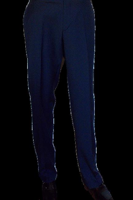 Men's Navy Blue Fine Jacquard Exquisite Chiari Italian Pants
