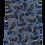 Thumbnail: Paisley Print silk Italian Neckties in Blue & Purple
