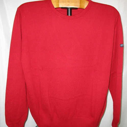 Men's Red Pique Cotton Italian Impulso Sweater