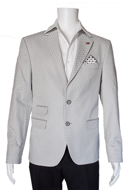 Men's Pearl Gray Jacquard RNT Summer Trendy Jacket