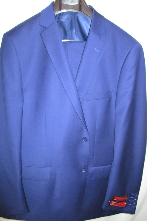 Men's Dark Royal Blue 2Pcs  Plain Weave Wool Suit