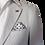 Thumbnail: Men's Pearl Gray Jacquard RNT Summer Trendy Jacket