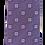 Thumbnail: Modern Geometric Silk Italian Neckties In Lavender & Beige