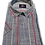 Thumbnail: Men's Rigardi gray with  stripes short sleeve chest pocket cotton shirt