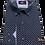 Thumbnail: Men's Rigardi navy & white fine pattern long sleeve super  slim fit shirt