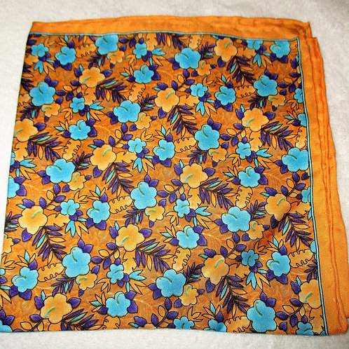 Buttercup Floral Silk Pocket Square