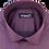 Thumbnail: Men's luxurious wine & charcoal fine stripes Ave21 long sleeve shirt