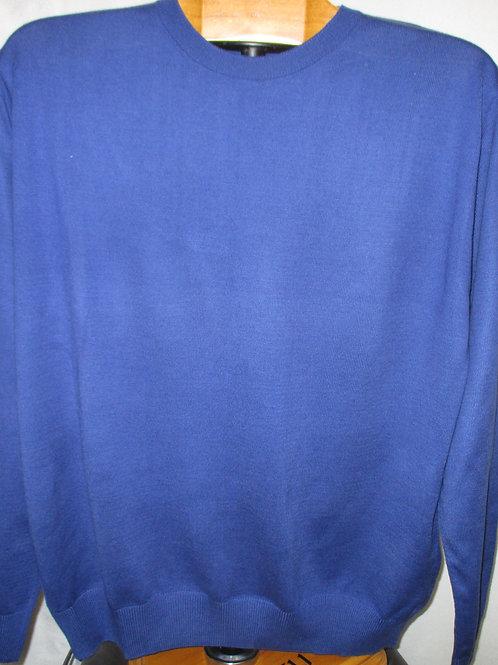 Men's Royal Blue Solid Italian Montechiaro Sweater