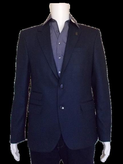 Men's Navy Blue Jacquard RNT Trendy Slim Fit Sport Jacket