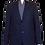 Thumbnail: Men's Navy Blue Jacquard RNT Trendy Slim Fit Sport Jacket