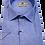 Thumbnail: Men's Ruben's blue & white stripes chest pocket short sleeve classic fit shirt