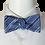 Thumbnail: Purple Blue Black and White  Geometric Self-tie Silk Bowtie