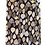 Thumbnail: Men's Black & Gold Leaf Pattern Italian Silk Tie