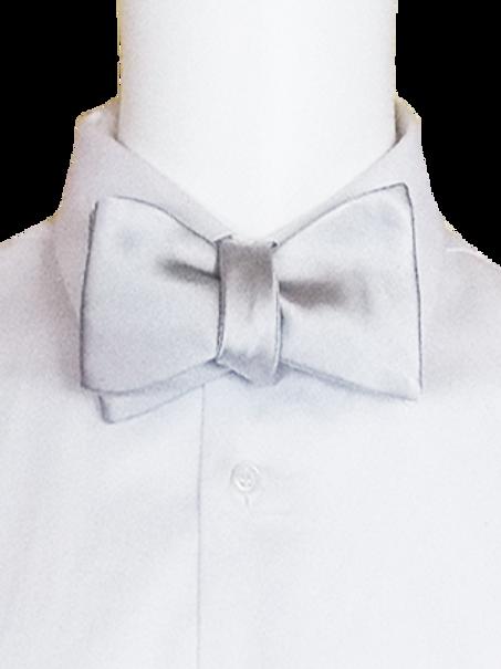 Silk Self-tie Bowtie available in Silver & Black