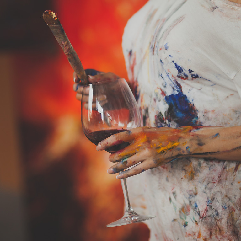 Women's Paint, Sip and Smoke