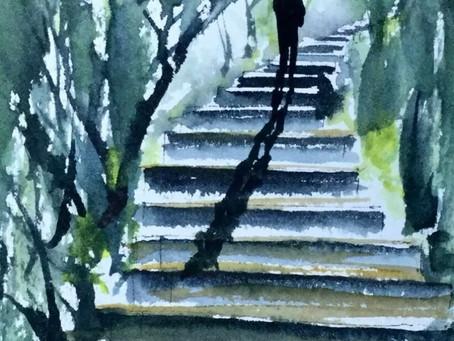 Together on Steps