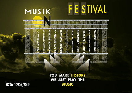 Musik On Festival Poster (Student Project)