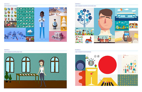 Moodboards for LifeWay Simulcast Animati