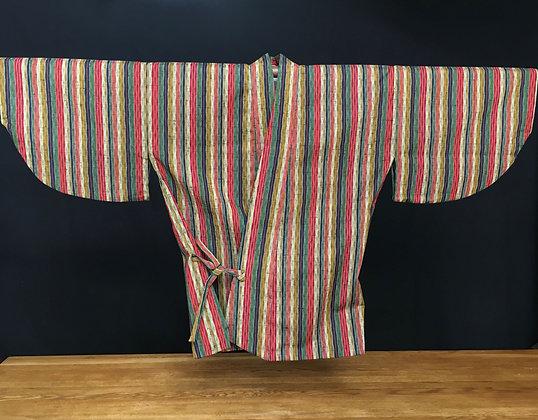 Striped dochugi kimono jacket
