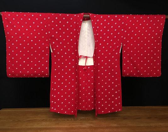 red haori kimono jacket