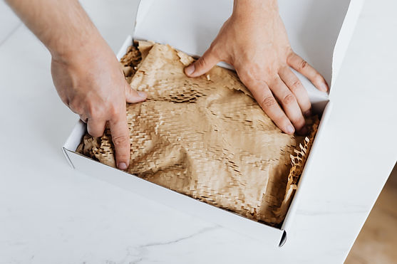 A product being wrapped