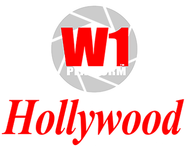 W1 Platform - the Hollywood Blockchain Logo vertical