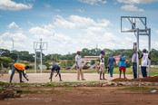 Basketball outreach in Gulu, Uganda