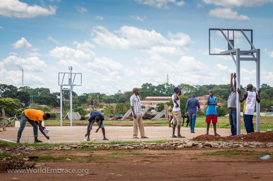 Basketball outreach in Gulu, Uganda