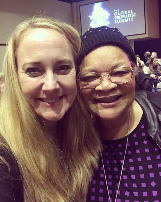 Faytene & Alveda King (niece of Martin Luther King Jr.)