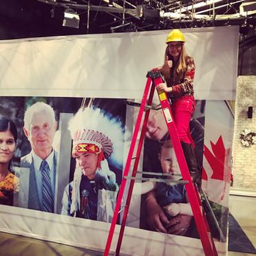 Building the set.