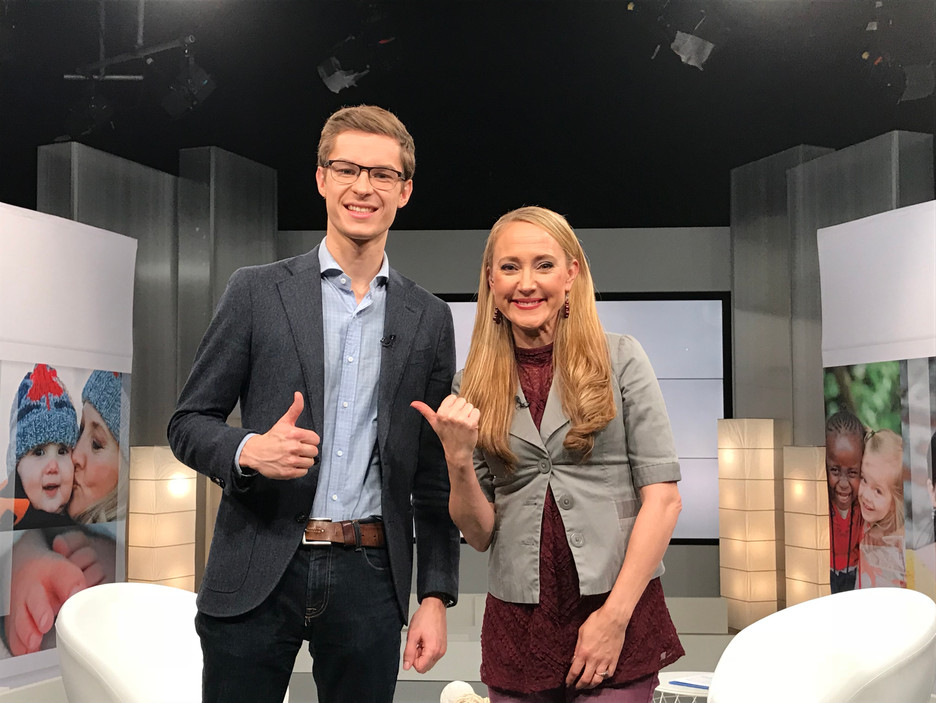 Filming Faytene TV with MPP Sam Oosterhoof
