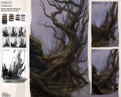 Digital Painting Tutorial05_Swamp Element Study_small