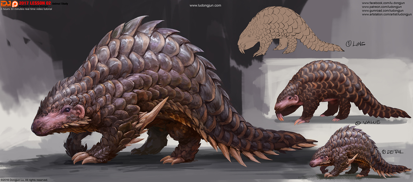 2017Lesson02_Pangolin Creature_Arrange_small