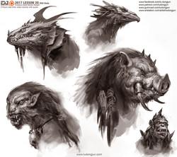 Lesson20_Creature Head_Arrange_small