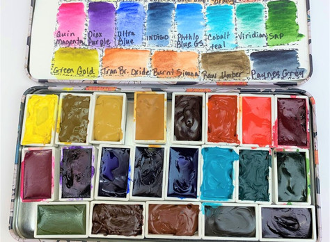 QOR Watercolor Pallet Setup