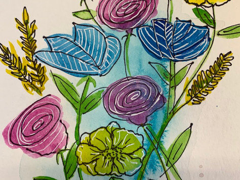 Doodle Flowers with Windsor & Newton Paint