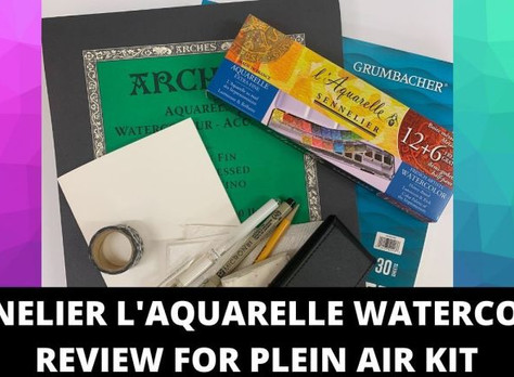 Best Watercolor Paint and Paper for Plein Air Painting