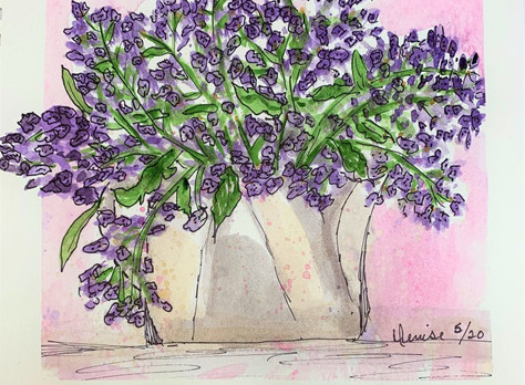 QOR Watercolor Lavender Painting