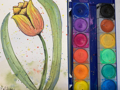 My First Student Grade Cheap Watercolor Set! Pelikan Brand from Blick Art Supply