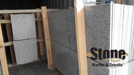 light gray granite in container / Egypti