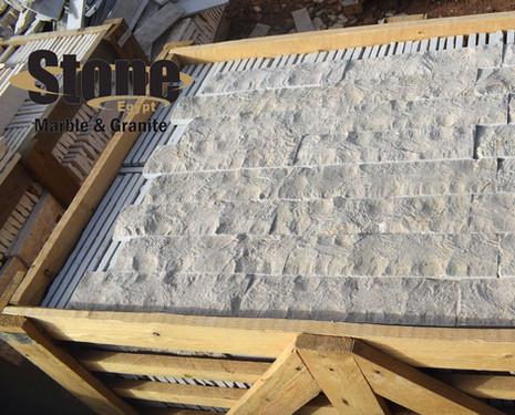 Sinai Pearl split face marble tiles, Mar
