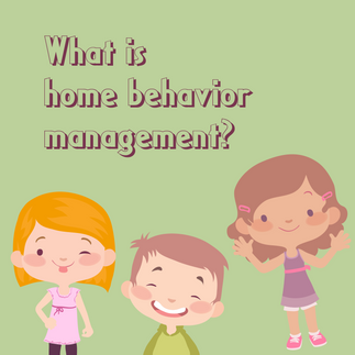 What is home behavior management?