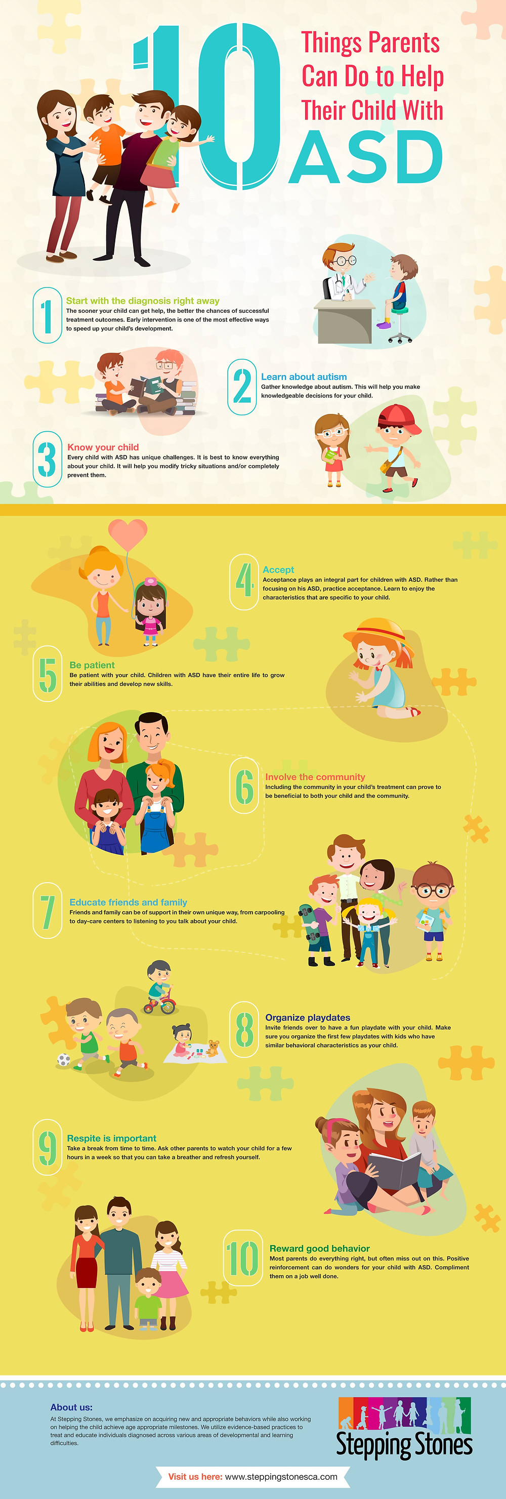 infographic 10 Things parents can do to help child with asd