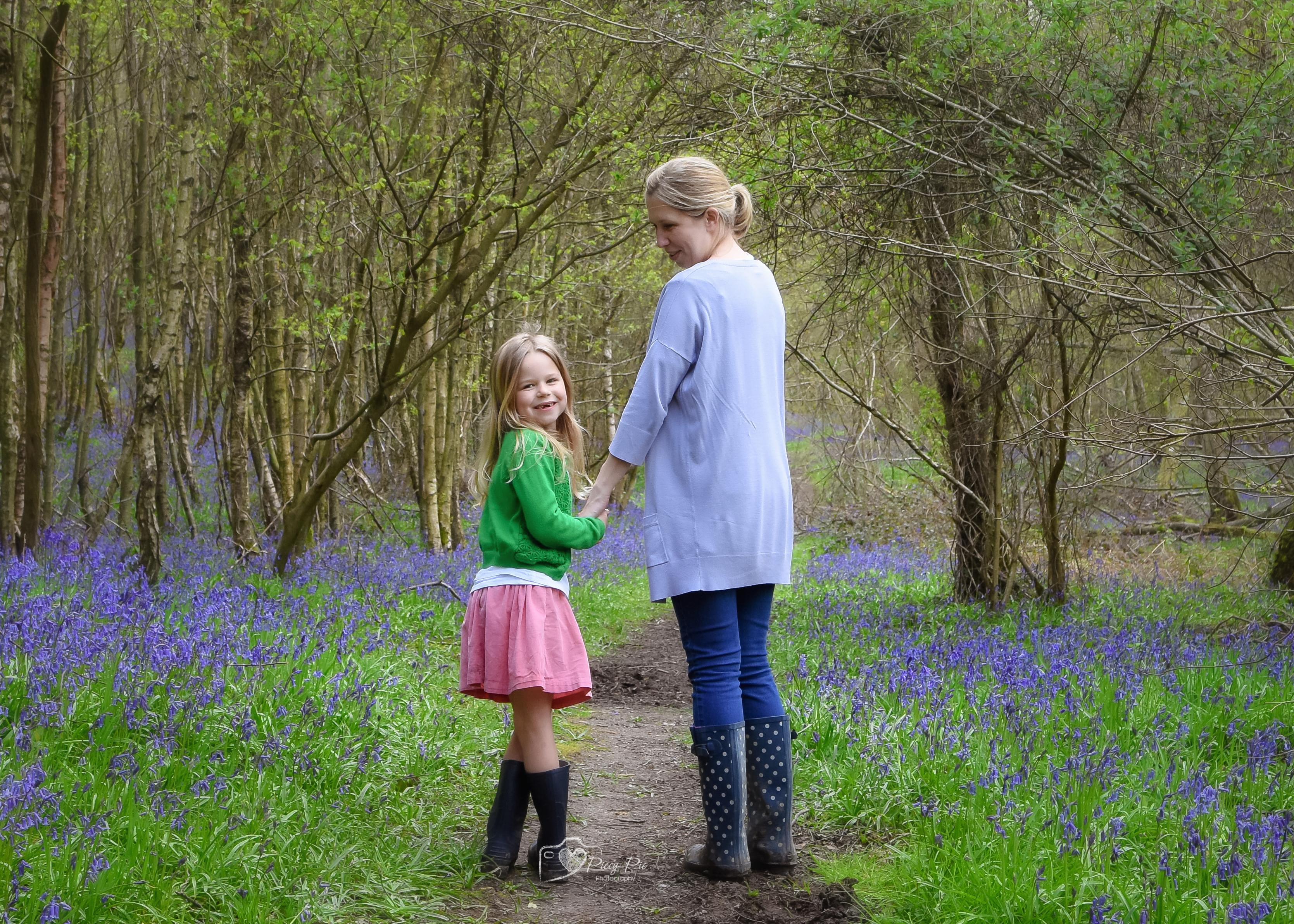 Bluebells with Mummy