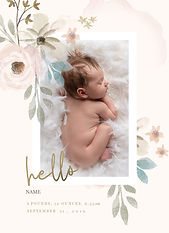Birth announcement card Crowboroug