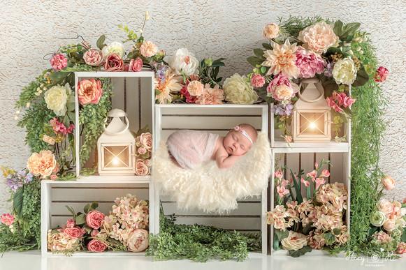 Newborn baby composite background