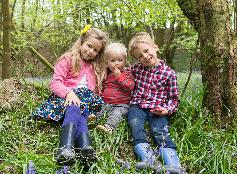 siblings in the bluebells