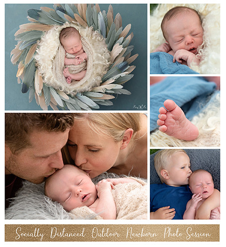 Outdoor family photography with newborn baby
