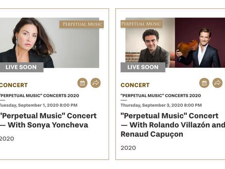 Sonya Yoncheva and Rolando Villazón lead Rolex Perpetual Music Concerts